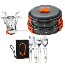Bisgear 12/16 pcs camping cooking set