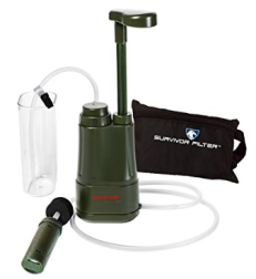 Survivor Filter PRO water purifier for backpacking