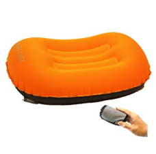 Trekology ultralight inflating pillow for travel and camping
