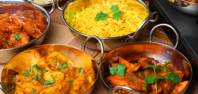 authentic indian curry and rice dishes