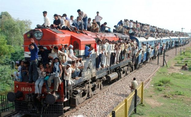 packed Indian train