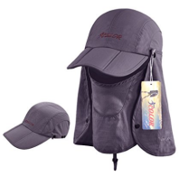 ICOLOR backpacking sun cap with face and neck flap