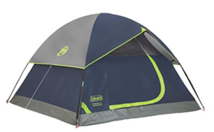 Coleman Sundome 3-person backpacking tent